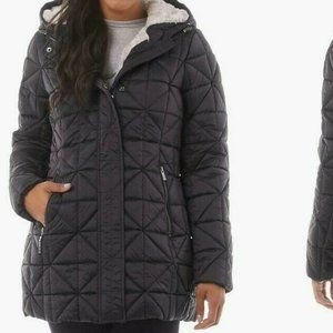 Steve Madden Quilted Sherpa Lined Jacket